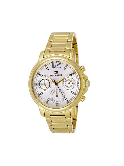White Dial Steel Analog Watch