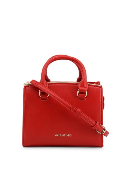 Red Buckle Strap Handbag