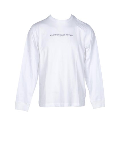 White Long  Sleeve Logo T-shirt