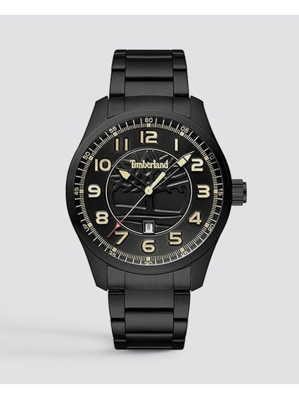 Black Dial Stainless Steel Analog Watch