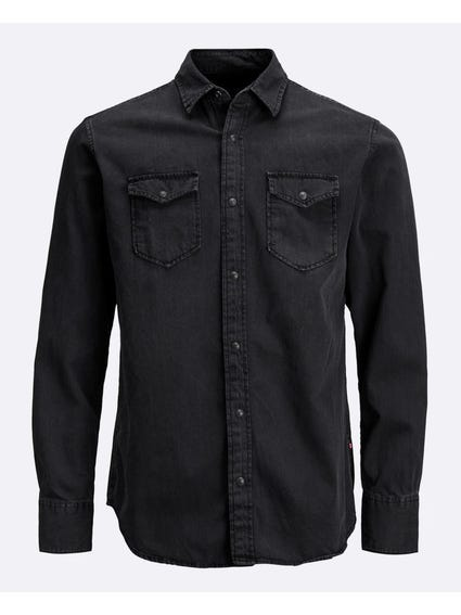 Black Double Button Pocket Shirts