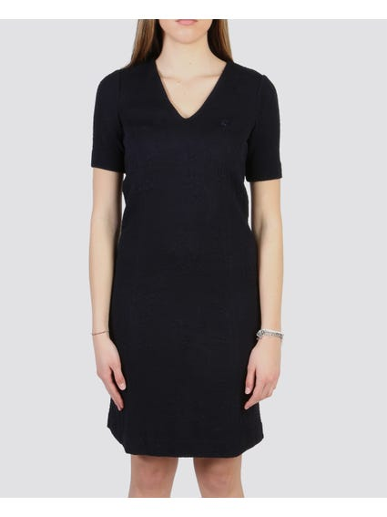 Navy V-Neck Dress