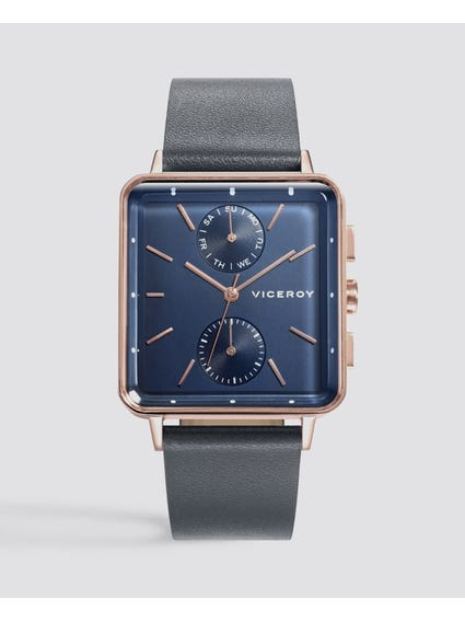 Air Blue Dial Leather Watch