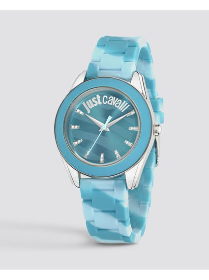 Light Blue Analog Watch