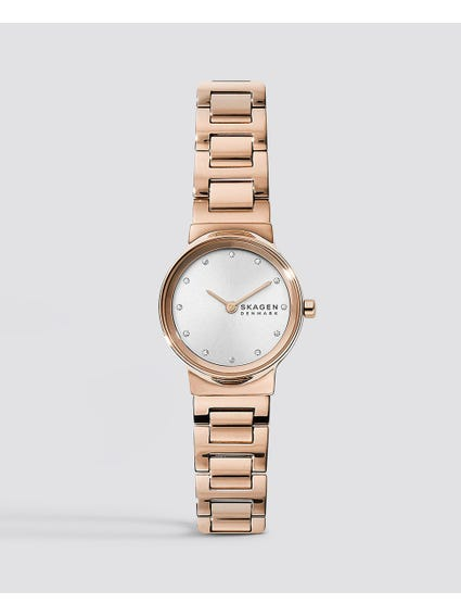Rose Gold Steel Link Watch