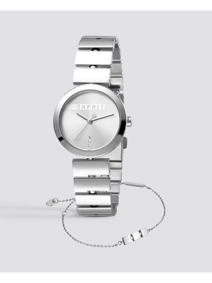 Silver Quartz Stainless Steel Watch