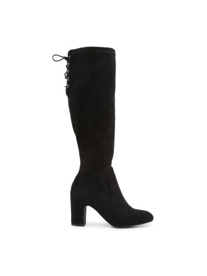 Suede Lace High Knee Boots