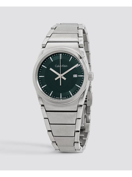 Step Dark Green Dial Watch