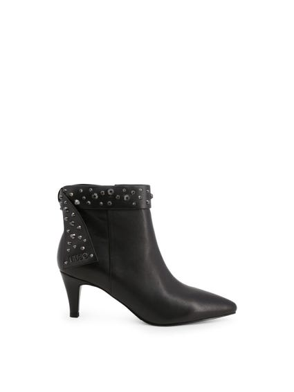 Black Studs Ankle Boots