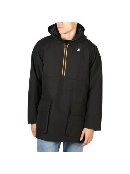 Black Hooded Pocket Long Sleeve Jacket