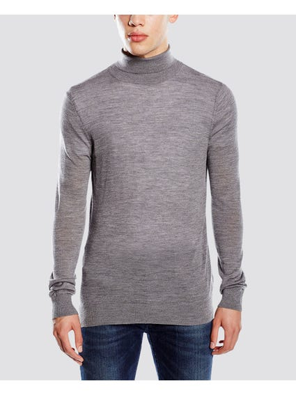 Grey Mark Turtleneck Knitwear