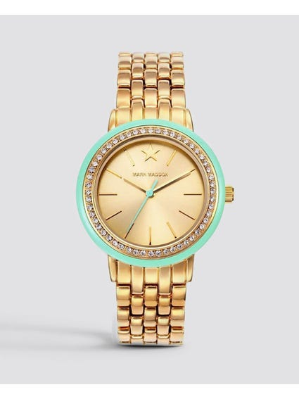 Gold Quartz Stainless Steel Watch