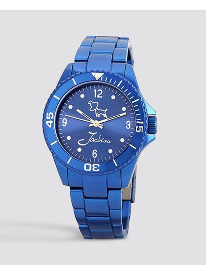 Metallic Blue Dial Analog Watch