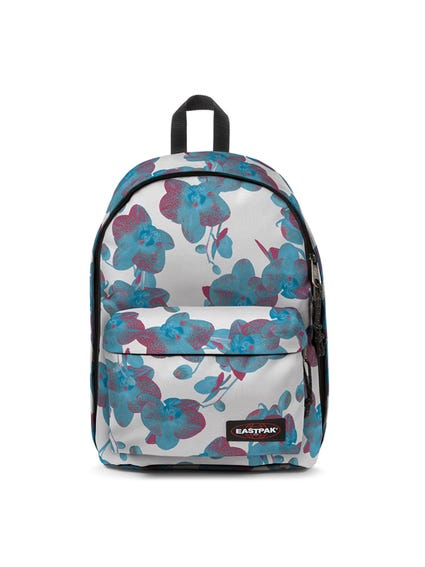 White Zipper Printed Floral Backpack