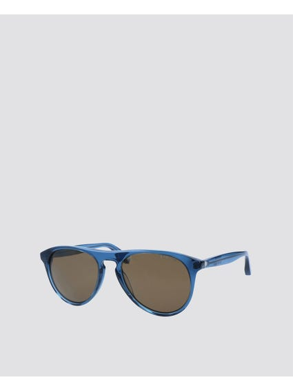 Blue Polarized Wayfarer Sunglasses
