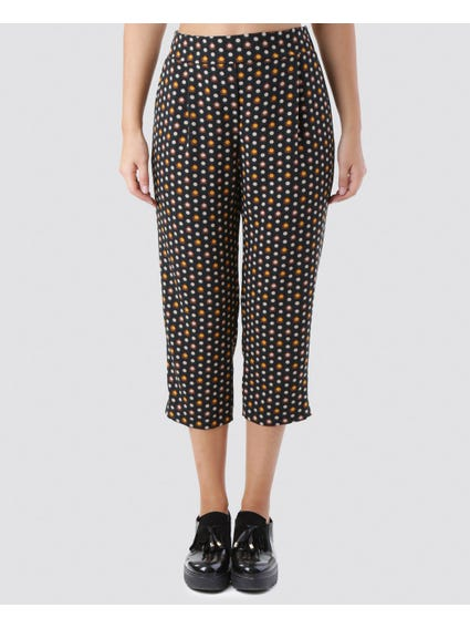Multi Polka Dot Print Pants