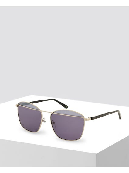 Grey Cross Through Bridge Sunglasses