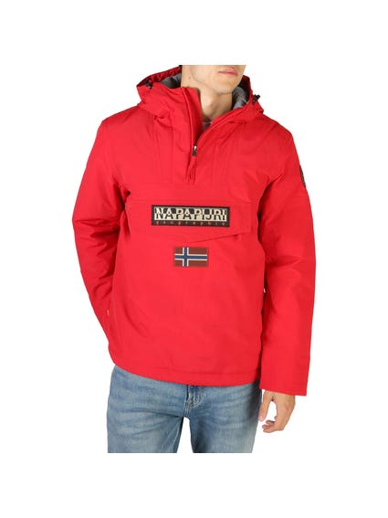 Red Rainforest Hood Pocket Jacket