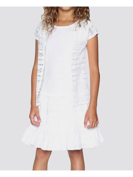 White Plain Maxi Kids Dress
