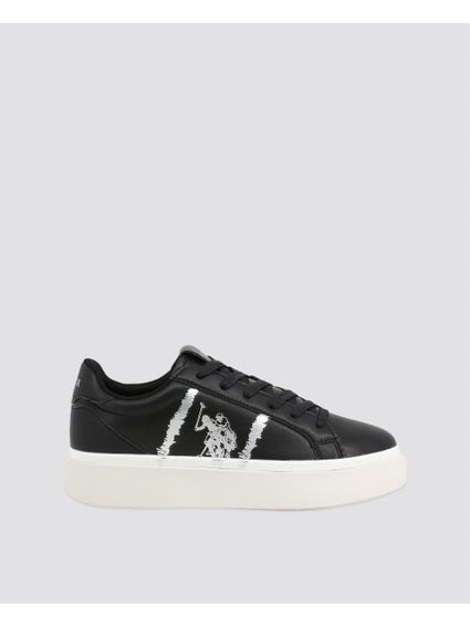 Black Thick Platform Sneakers