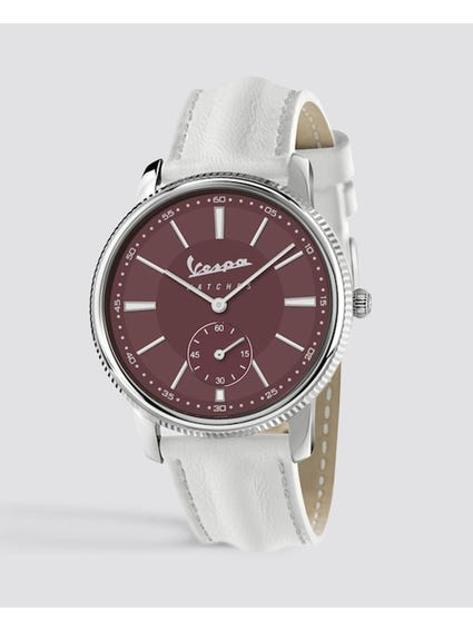 White Piccolo Secondo Leather Watch