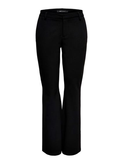 Black Rocky Mid Flared Pant Trouser