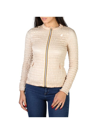 Long Sleeve Zipper Quilted Jacket