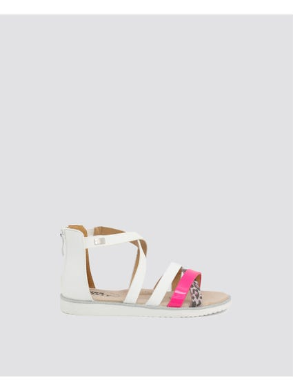 White Strappy Kids Sandals