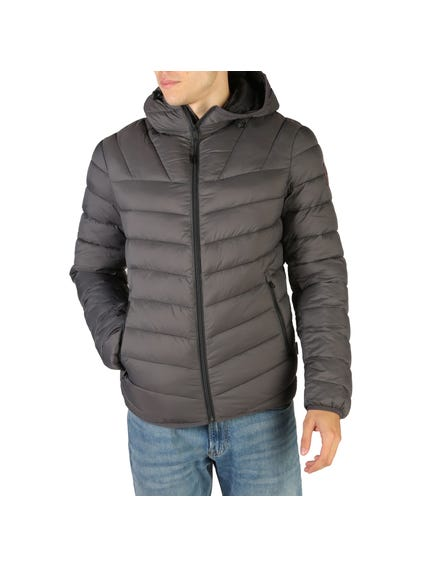 Grey Aerons Padded Hooded Jacket