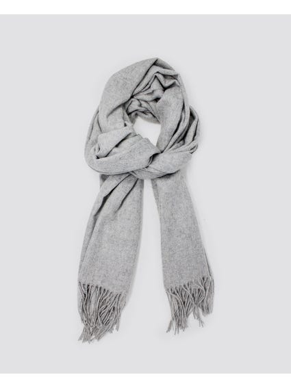 Grey North Wool Scarf