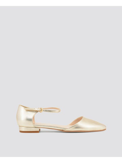Gold Metallic Baciami Pumps