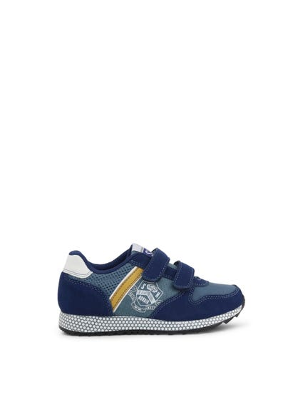 Blue Velcro Strap Kids Sneakers
