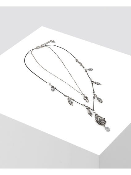 Silver Embellished Patterned Necklace