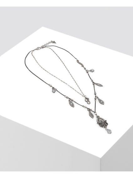 Silver Embellished Patterned Necklace