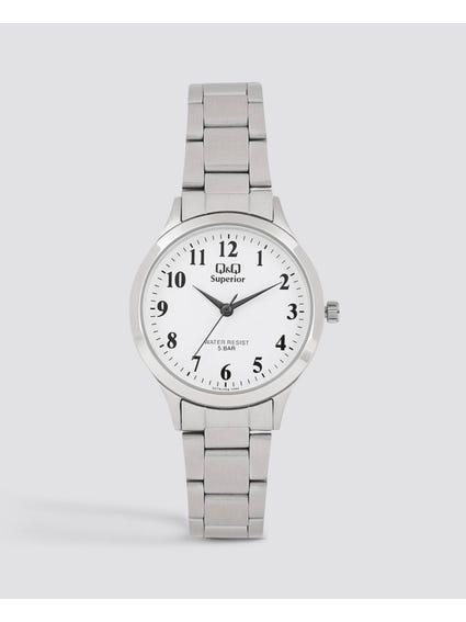 Silver Stainless Steel Wrist Watch