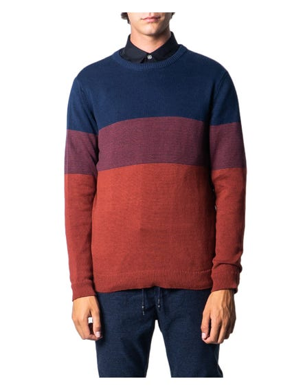 Crew Neck Block Knitwear