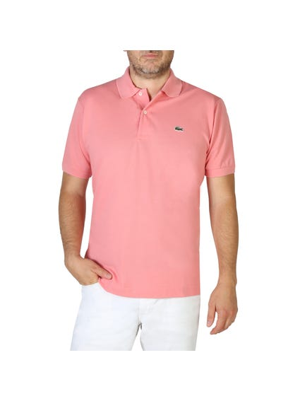 Logo Printed Pink Polo Shirt