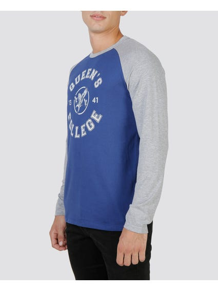 Blue Queens Raglan T-Shirt