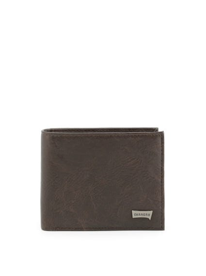 Brown Leather Bi Fold Logo Wallet
