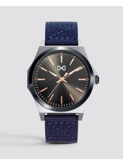 Navy Nylon Strap Quartz Watch