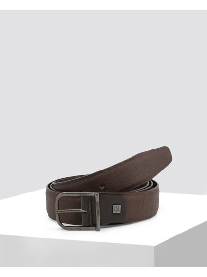 Brown Patterned Belt