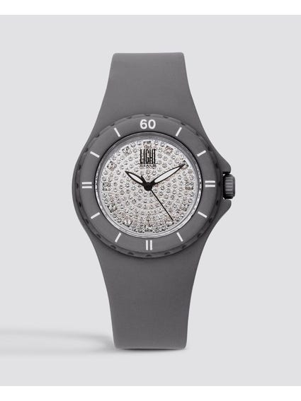 Grey Silicon Strap Quartz Watch