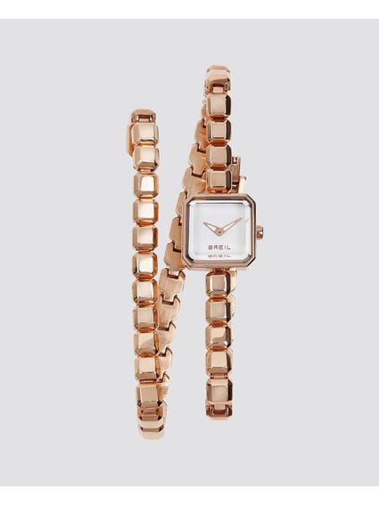 Gold Pure Link Straps Analog Watch