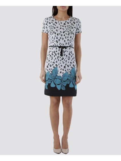 Leaves Print Hem Dress