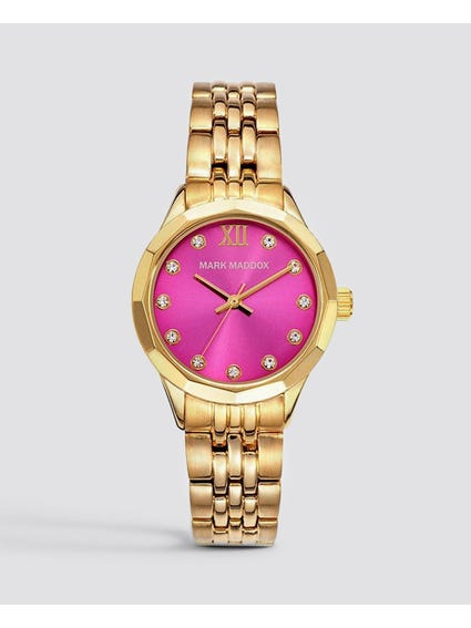 Gold Stone Indices Analog Watch