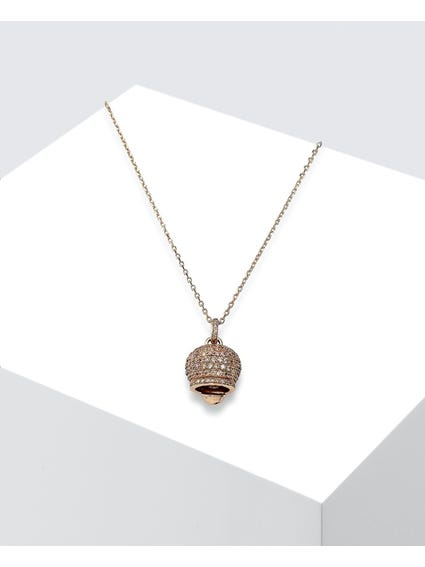 Rose Gold Campanella Pendant Necklace