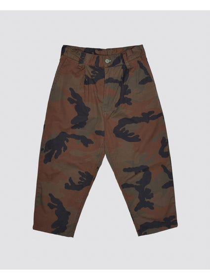 Camo Button Kids Trouser