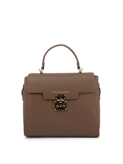 Saddle Brown Leather Hand Bag