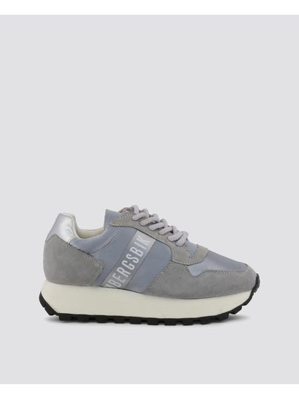 Grey Fender Leather Shoes