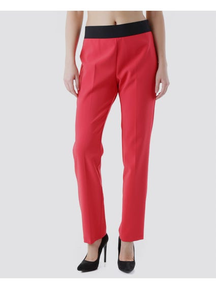 Two Tone Elasticated Trouser